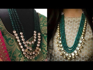 New Designer Gold Plated  Kundan And Beads Jewelry Designs