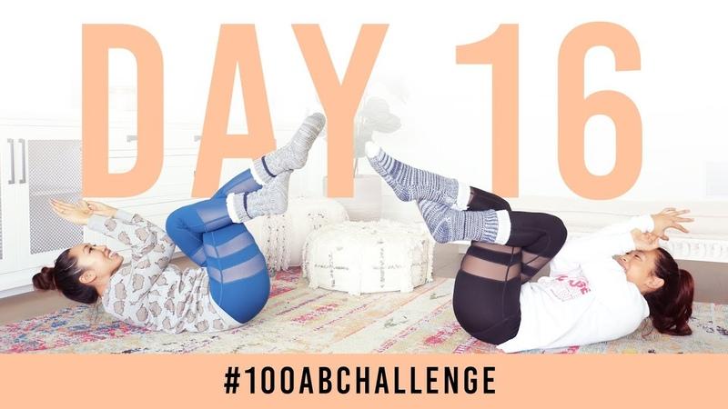 Испытание пресса - 100 орлиных прессов. Day 16: 100 Eagle Abs! | 100AbChallenge w/ my sister