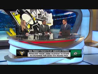 Nhl tonight penguins-stars trade jan 28, 2019