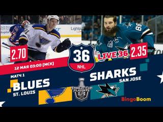 НХЛ НА РУССКОМ. КС-18/19. Р3. Сан-Хосе - Сент-Луис (матч 1)