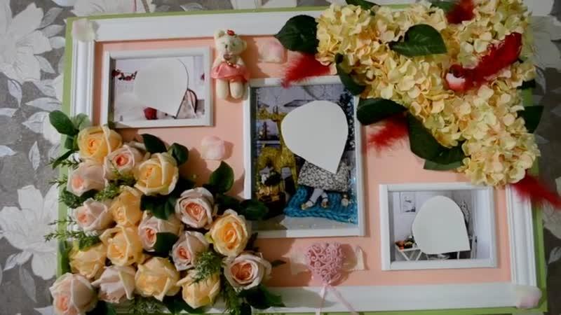 Цветочное панно для фото на стену из роз и гортензий Бесплатный мк