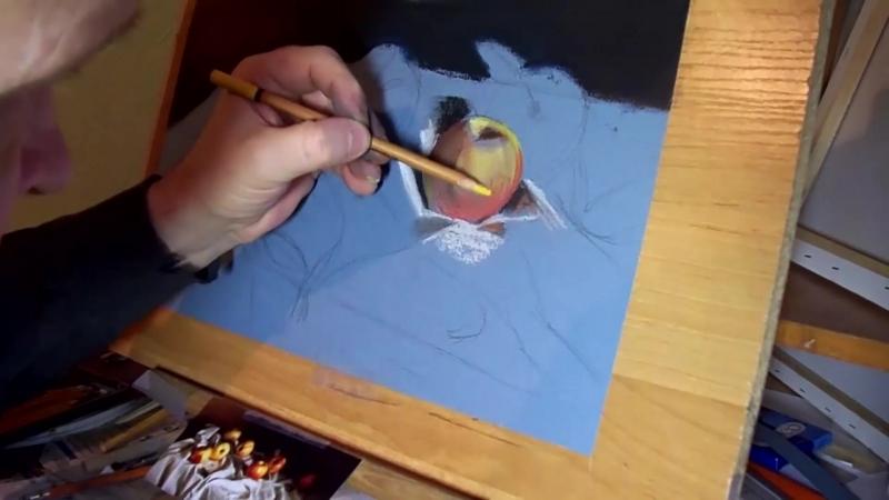 Яблоко (пастель)