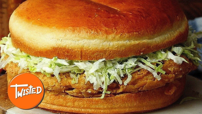 Giant Mayo Chicken Sandwich Recipe Shareable Food Epic Party Dishes Twisted