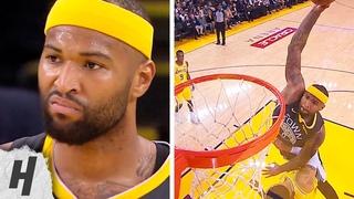 DeMarcus Cousins POSTERIZES Kyle Kuzma & Stares at Him | Warriors vs Lakers - February 2, 2019