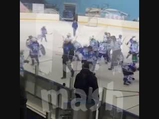 Хоккейный матч закончился дракой