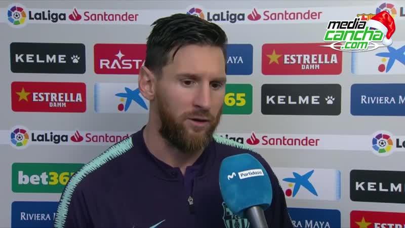 Messi destaca buen funcionamiento colectivo en victoria sobre Espanyol