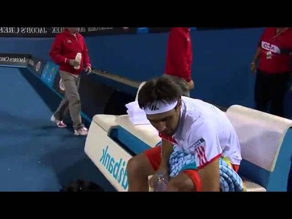 Destroys FOUR Racquets!! Australian Open