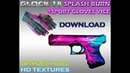 CS:GO Glock 18 HD Splash burn Sport gloves VICE