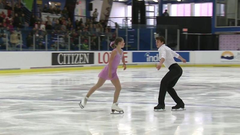 Kvartalova Daria Sviatchenko Alexei RUS Pairs Free Skating Richmond 2018