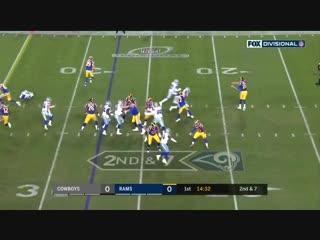 Даллас-Рэмс - лучшие моменты - плейофф - дивизональный раунд - американский футбол