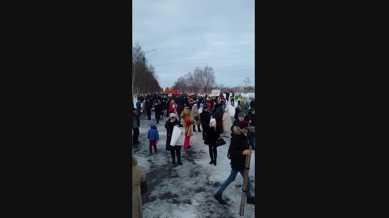 Оконцовка митинга Северодвинск 24.02.19.