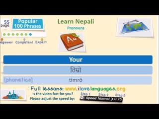 Nepali 100 important sentences - Popular Phrases - Quick Lesson