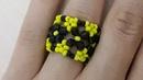 Кольцо из бисера. Граненое/Ring of beads. Faceted