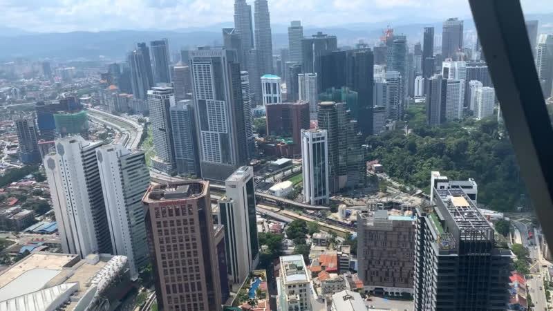 Полет на вертолёте. Куала-Лумпур. Малайзия