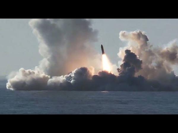 Russian Submarine Launches RSM-56 Bulava Ballistic Missile