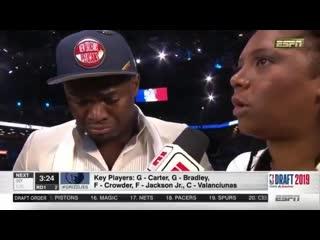 Первое интервью Зайона Уилльямсона в качестве игрока НБА