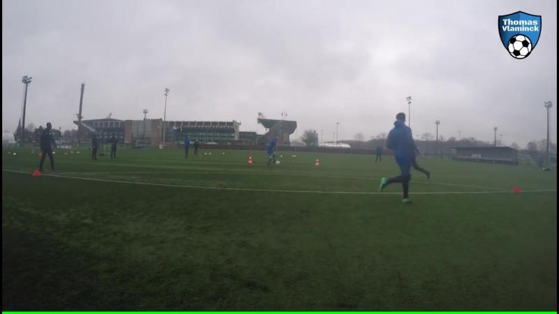 Passing Drill Football 5 7 spelers technical drill Thomas Vlaminck Techniektraining