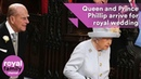 The Queen and Prince Philip arrive for wedding of Princess Eugenie