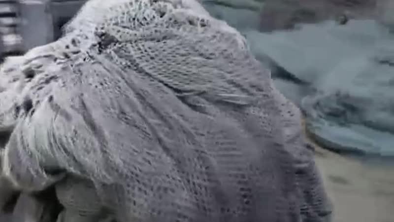 Ковровое покрытие из рыбачьих сетей Сделано из вторсырья