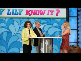 Ellen Tests Lily Tomlins Knowledge with Will-y Lily Know It