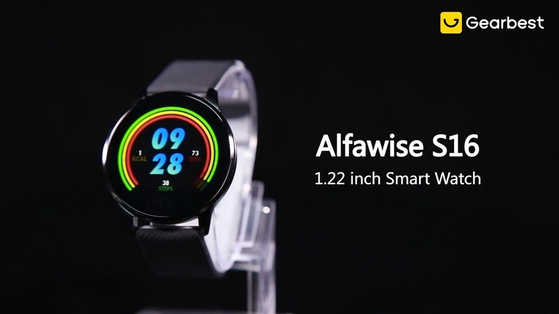 Alfawise S16 HD Color Display Blood Pressure Heart Rate Smart Watch - Gearbest.com