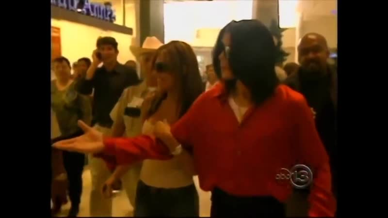 Michael shopping in Houston with Monique Randy Jackson's ex girlfriend in 2004
