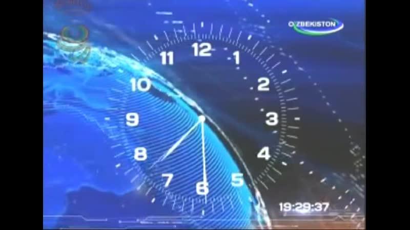 Часы на канале O`zbekiston (Узбекистан). 2014-2016