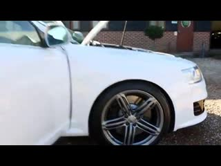 Audi rs6 avant 5.0 v10 twin turbo in ibis white with black leather interior lond