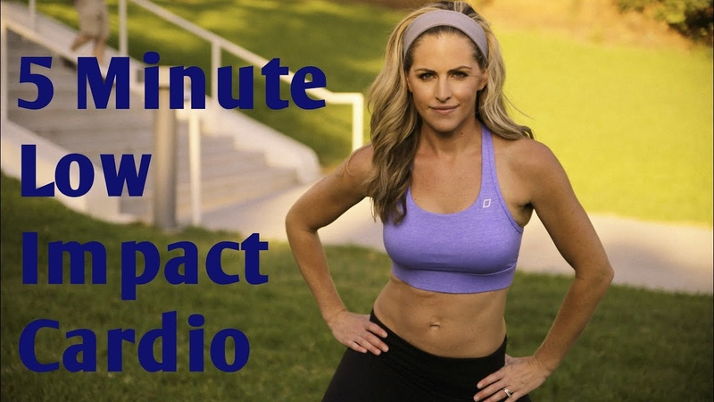 5 Minute Low Impact Cardio Workout for Fat Burning - Тренировки от BodyFit By Amy