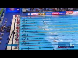 Men's 100m butterfly world record 49,50