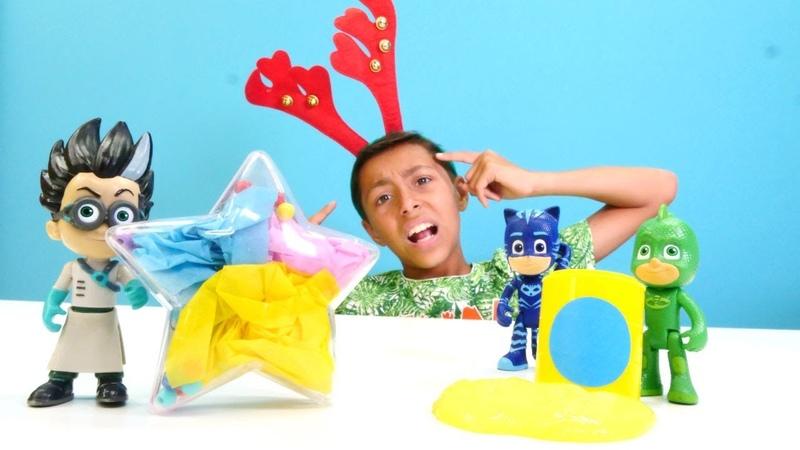 Pj Maskeliler oyuncakları. Romeo yeni tuzak kuruyor! Sihir yapma ve laboratuvar oyunu