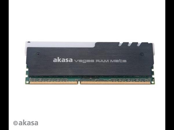 Радиатор Akasa Vegas RAM Mate для модулей памяти украшен светодиодной подсветкой