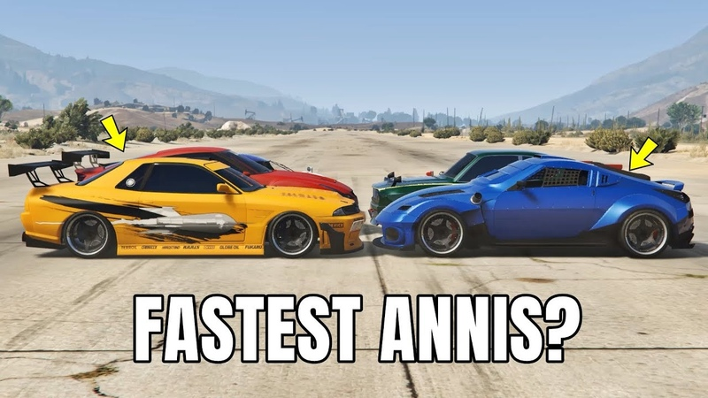 GTA 5 ONLINE : WHICH IS FASTEST ANNIS? (ZR380, ELEGY RETRO, S80RR MORE!)