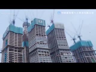 Как строят в Китае. Первый в мире горизонтальный небоскреб