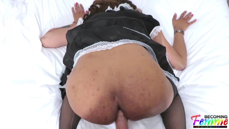 Raven Raine Sissy Maid Cleans Up Your