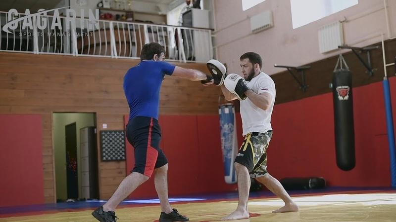 Крайняя тренировка Али Абдулхаликова перед боем с Кавадзири