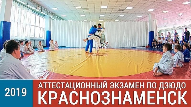 Экзамен по дзюдо в г. Краснознаменск, 2019