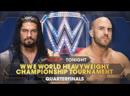 Сезаро пр Роман Рейнс четверть финал турнира за претенденство 1 на WWE Мировой Тяжеловесный Титул WWE РО 1173 16 11 2015