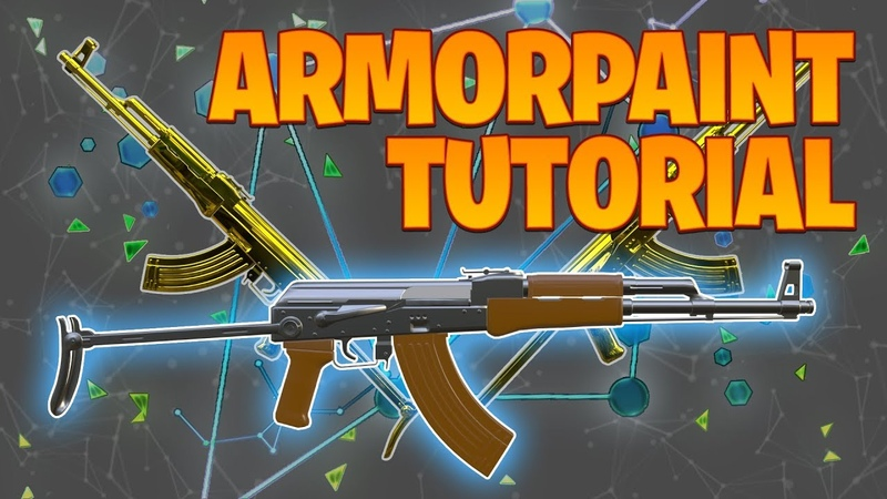 Texture painting AK 47 with ArmorPaint Blender 2 8 Tutorial