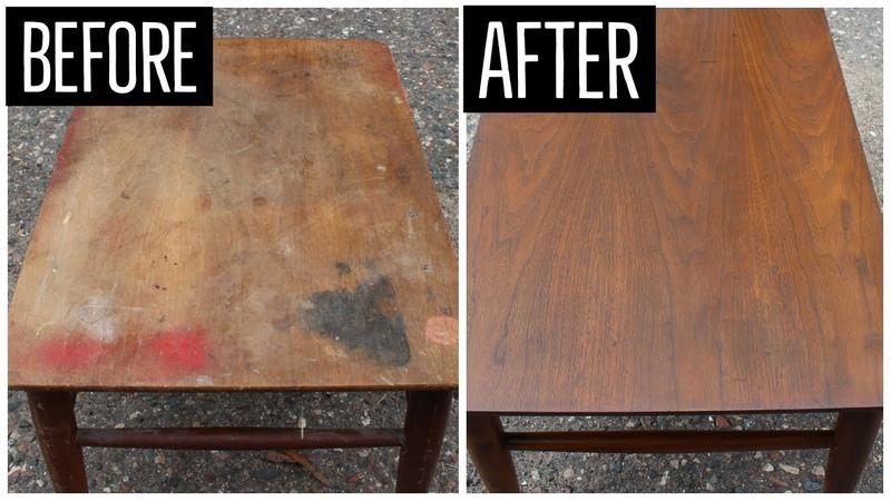 Mid Century End Table Restoration Furniture Refinishing