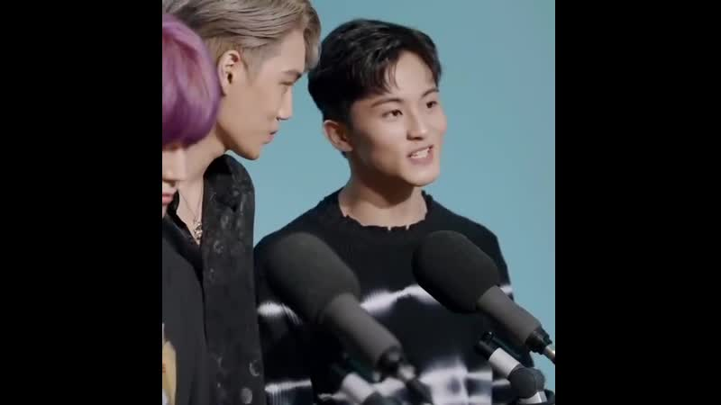 Kai is in love with the way mark speaks english wbk.