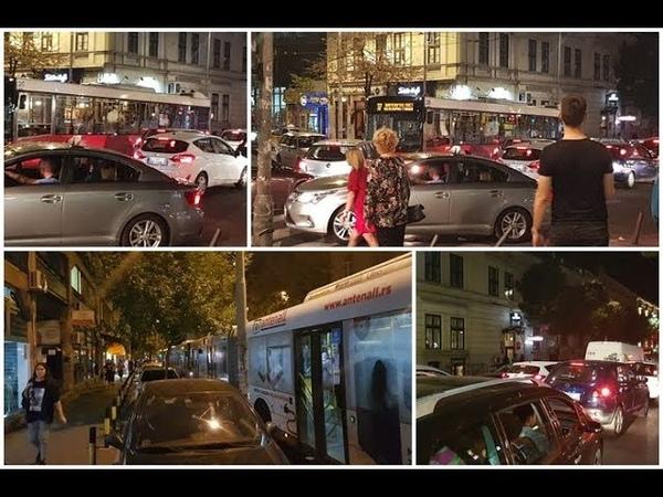 Centar Beograda (20č) Kolaps i totalni haos - peške brže nego kolima!
