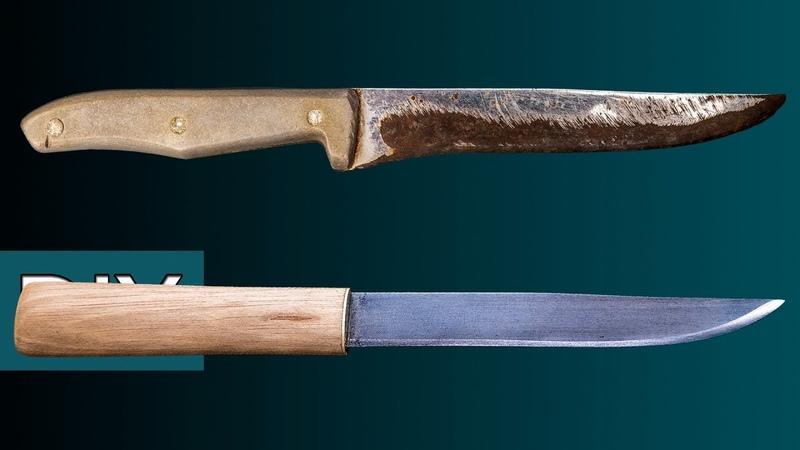 Как сделать Макири из старого кухонного ножа. Реставрация, заточка и травление. Стройхак