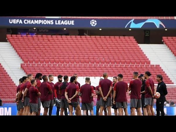 Liverpool's pre Champions League final training at Estadio Metropolitano
