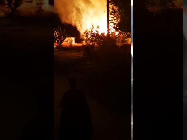 Пожар в Кобрине д Большие Лепесы 13 сентября 2020 г