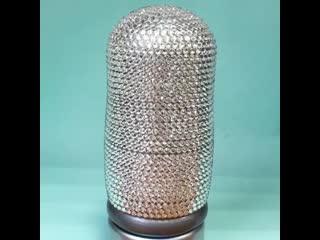 Роскошная 3-х местная матрешка с кристаллами Swarovski, на этот раз в серебряном цвете!#интерьерныематрешки_ск Стильное ук