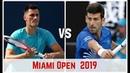 Novak Djokovic vs Bernard Tomic Miami Open 2019