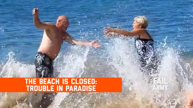 FailArmy The Beach is Closed Trouble in Paradise March 2020 Failarmy