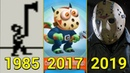 Evolution of Friday The 13th Jason Voorhess in Games 1985-2019