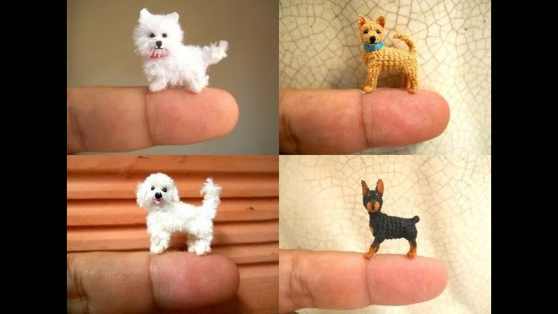 ♥ Вязанные собачки♥